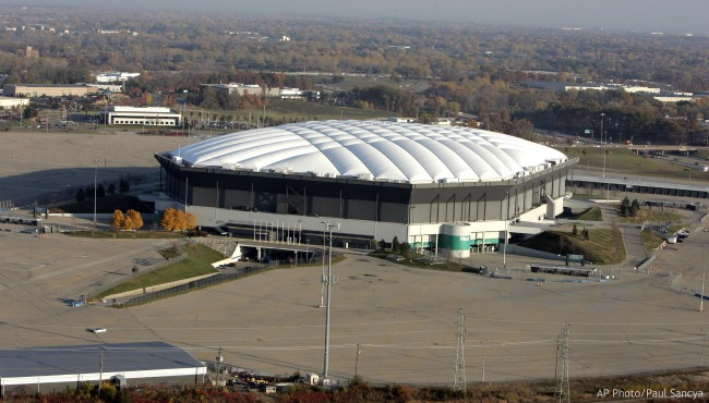 In this Nov. 2, 2005, file photo, the Silverdome is seen in Pontiac, Mich. (AP Photo/Paul Sancya, File)