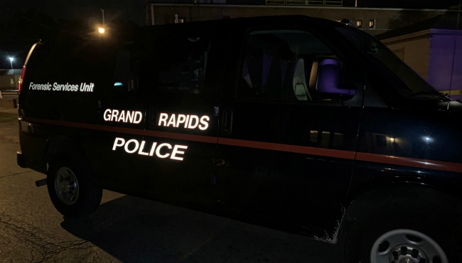 A photo of a scene of a shooting in Grand Rapids on Sept. 5, 2019.