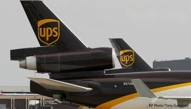 Two UPS planes on tarmac