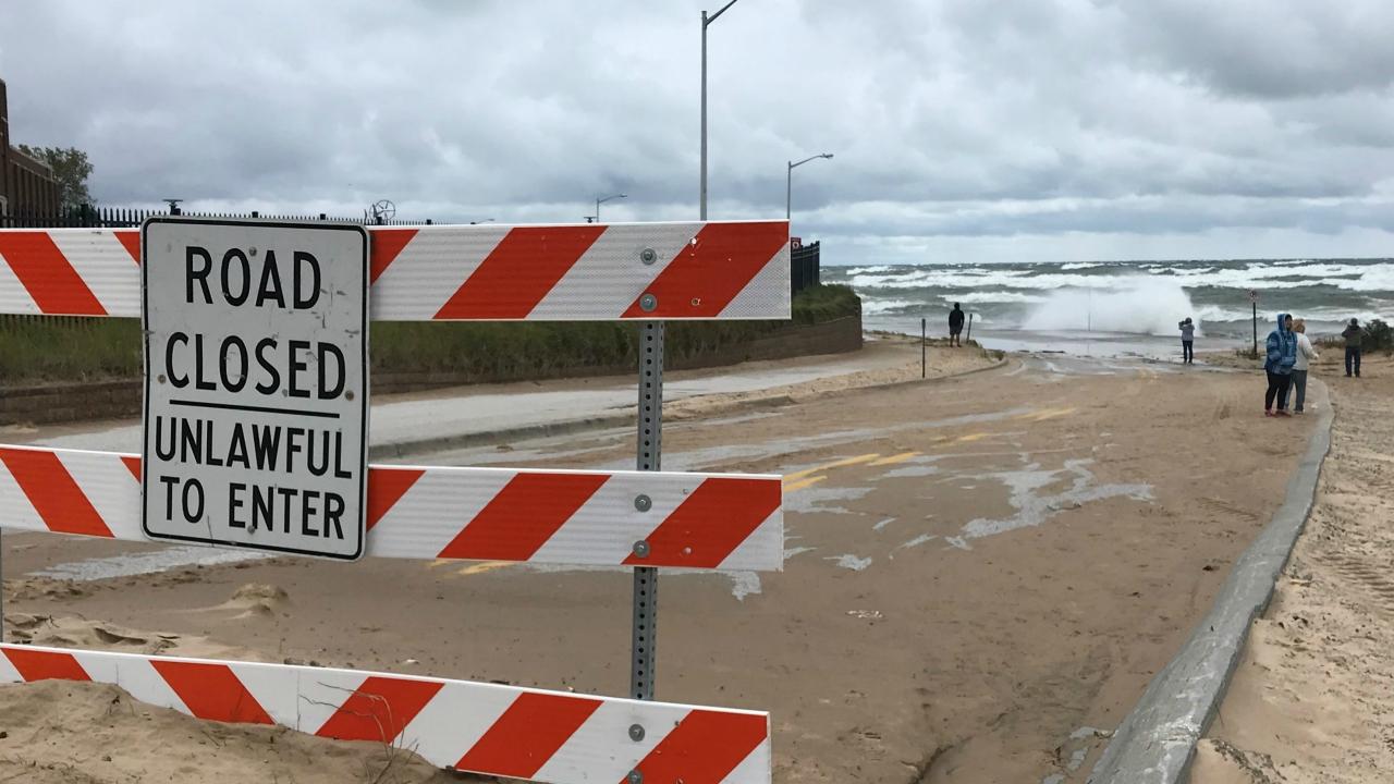 muskegon beach street closure