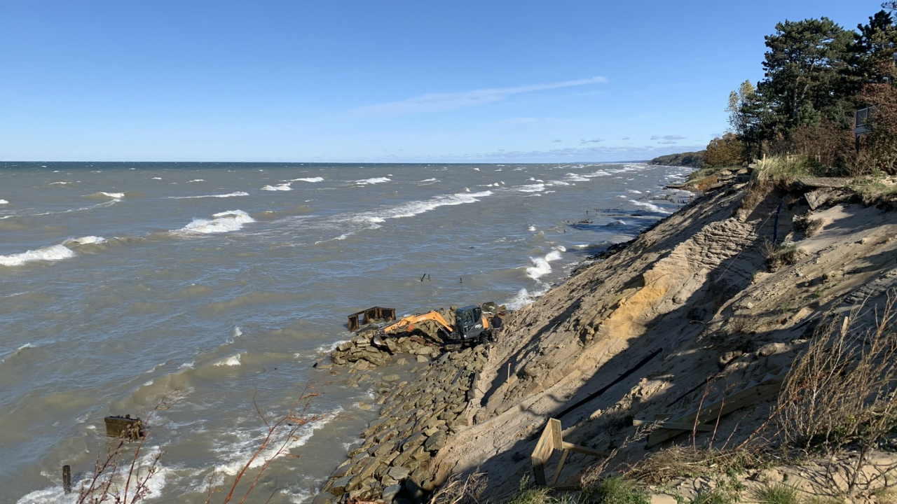 park township erosion work
