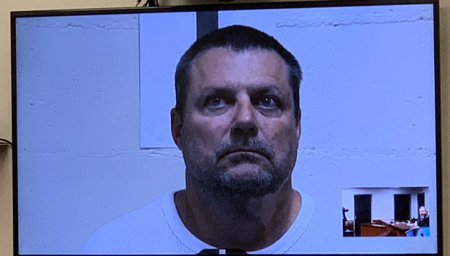 A photo of the arraignment of Robert Waite in a Van Buren County courthouse. (Nov. 20, 2019)