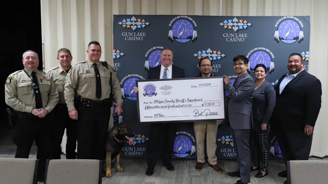 gun lake tribe allegan county sheriff's office donation