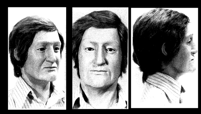 This is a reconstruction of man found in 1979 in Covert Township, but never identified.