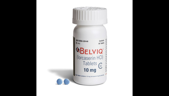 This undated image provided by Eisai in August 2018 shows the company's Belviq medication. (Eisai via AP)
