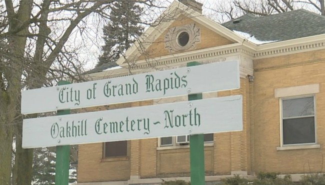 Oakhill Cemetery in Grand Rapids Feb. 18, 2020.