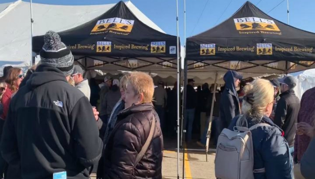 Crowds gather for the 15th annual Winter Beer Festival at Fifth Third Ballpark in Comstock Park. (Feb. 22, 2020)