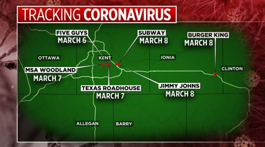 MI health officials release possible areas of COVID-19 exposure ...