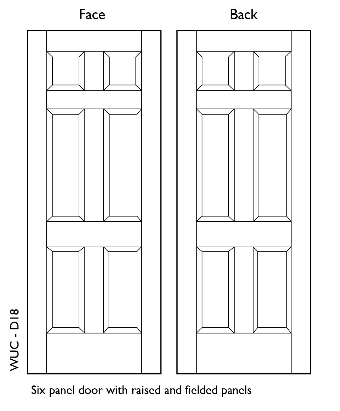 Solid Wood 6 panel Doors