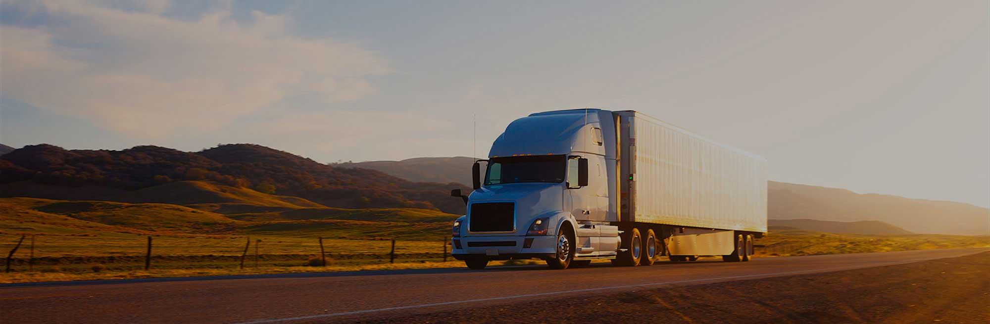 medium resolution of truck on highway at sunset california usa