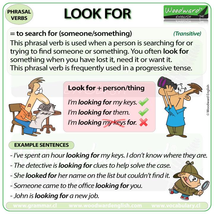 look for phrasal verb