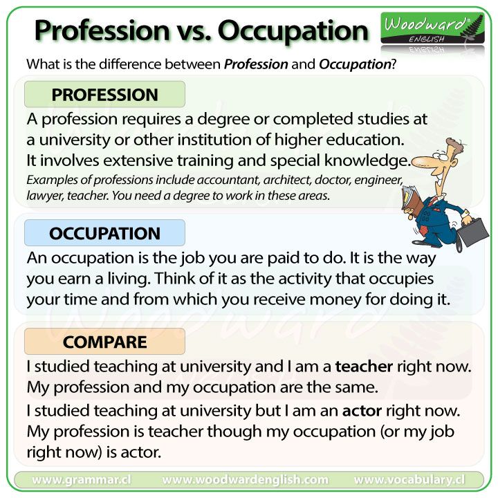 The Difference Between Profession And Occupation