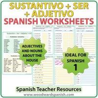 Sustantivo + SER + Adjetivo  Spanish Worksheets