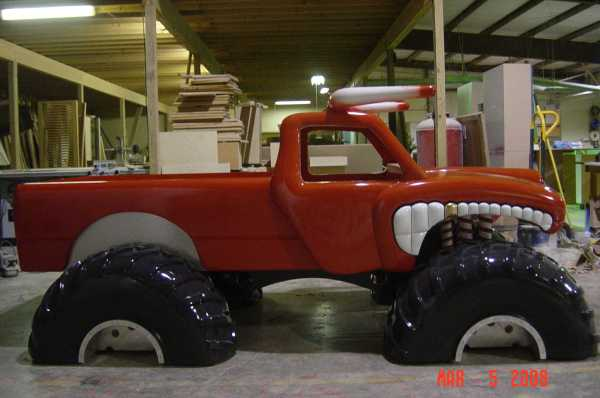 Monster Truck Wood Bed