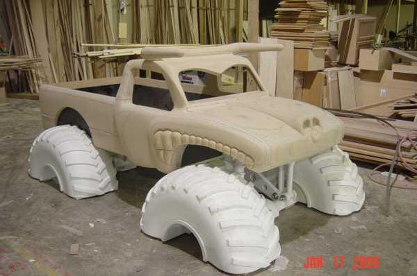 Wooden Monster Truck Beds