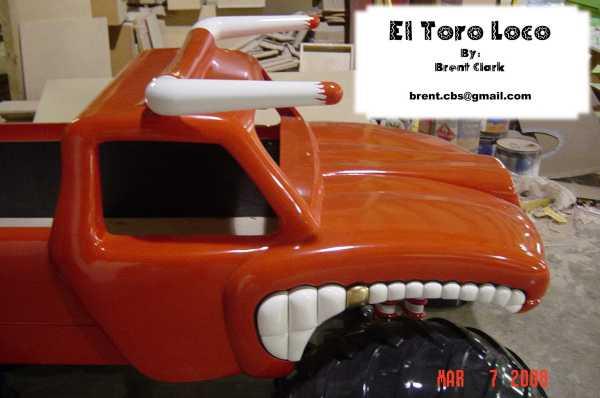 El Toro Loco Monster Truck Bed