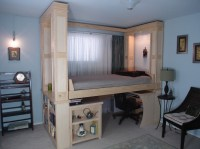 """""""space creating bed"""" for small space living"""