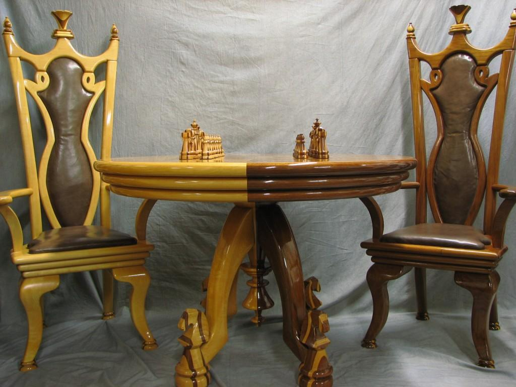 Chess Table Chairs  Chess Set