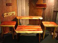 Rustic Style Red Cedar Cabin Size LivingRoom Set