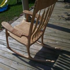 Sam Maloof Rocking Chair Plans Hal Taylor Royal Blue Slipper Tiger Maple