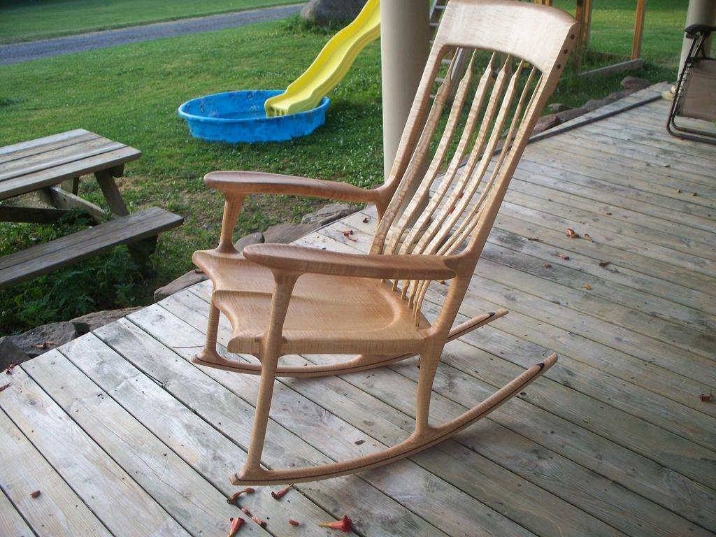 sam maloof rocking chair plans hal taylor cheap folding tables and chairs tiger maple