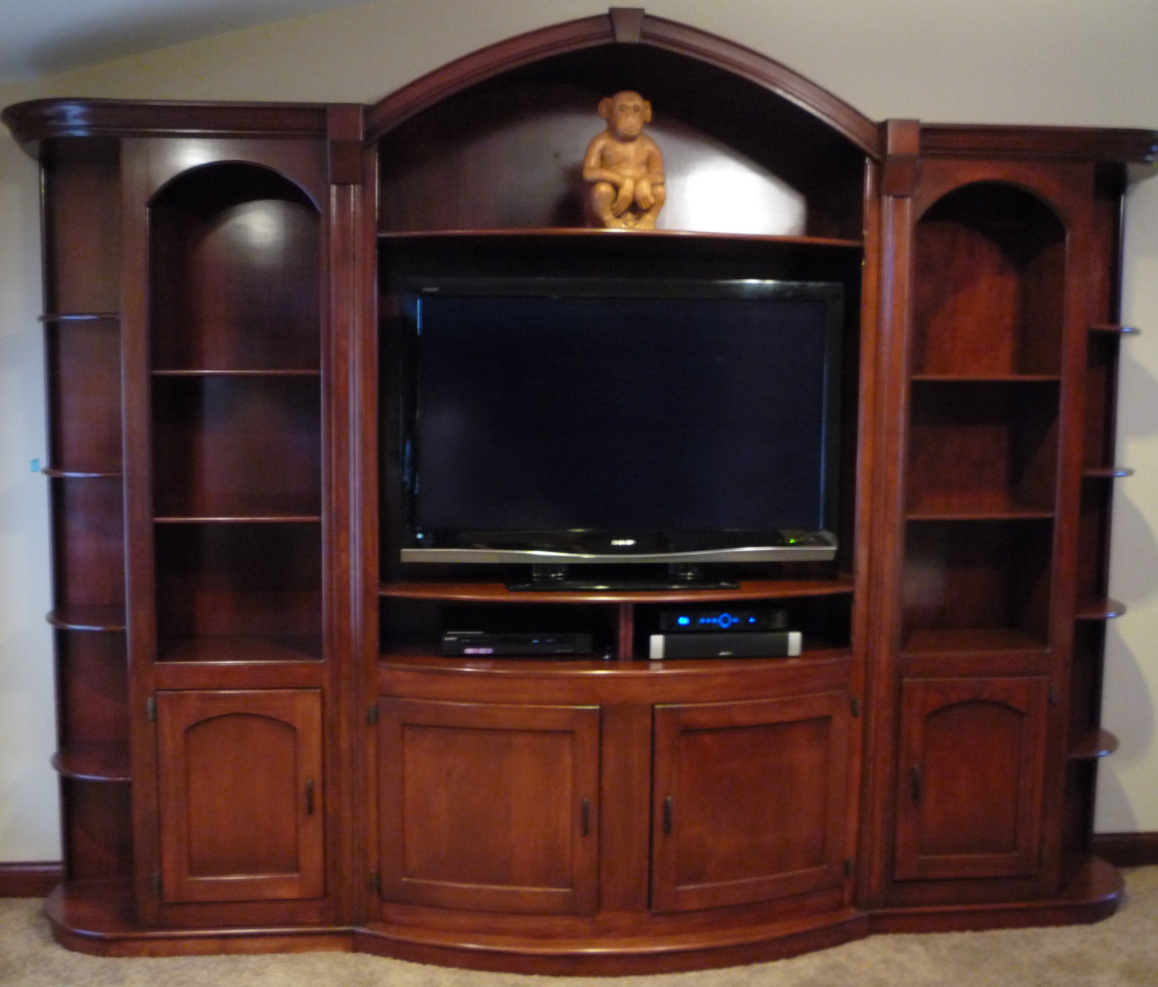fine woodworking entertainment center plans