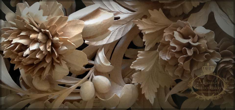 RococoGrinling Gibbons Style Wood Carving