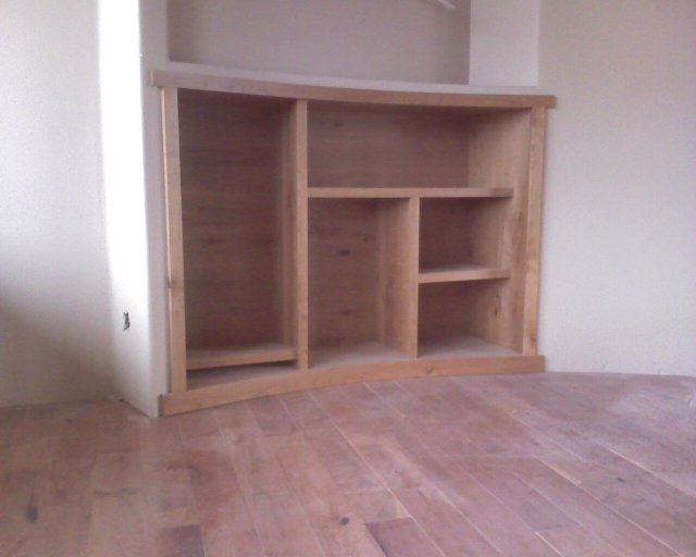 curved entertainment cabinet