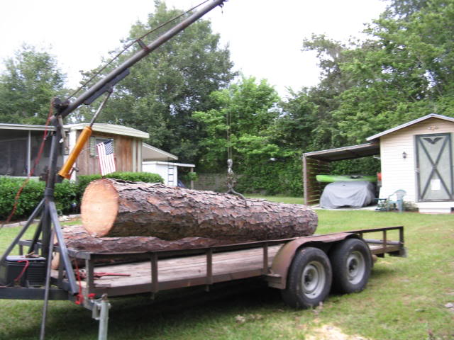 Loading Logs On Trailer