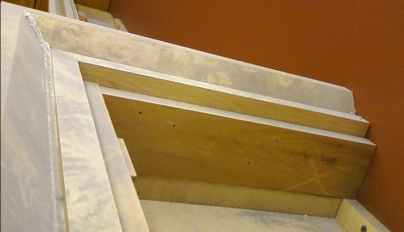 Attaching Trim to a Cabinet Top