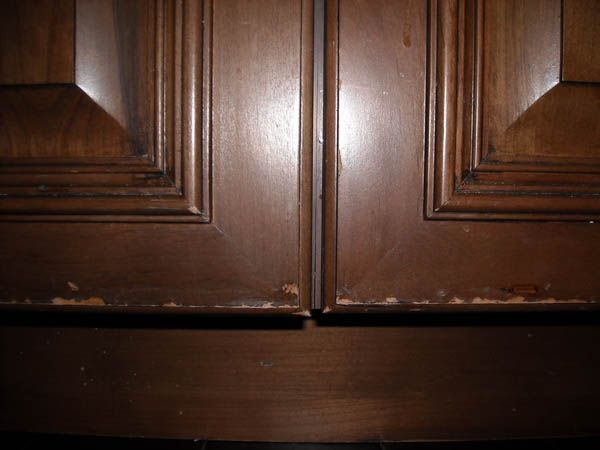 Peeling Laminate Cabinet Doors