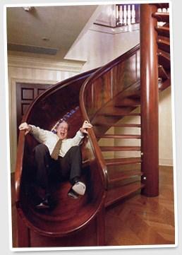 Circular Stairway Side Children S Slide Conundrum | Spiral Staircase With Slide | Modern | 1930'S | Interior | Cool | Stainless Steel Spiral