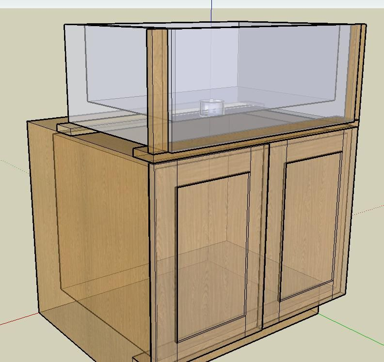 Frameless Sink Base for a Farmhouse Sink