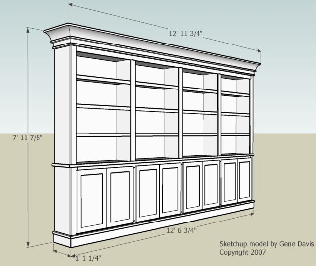 Free Base Cabinet Plans: Bookshelf Cabinet Plans DIY Blueprint Plans Download Plans