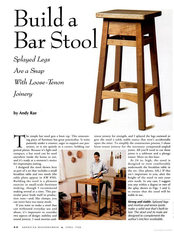 Free Bar Stool Plans Woodwork City Free Woodworking Plans