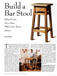 Free Bar Stool Plans - Woodwork City Free Woodworking Plans