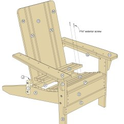 Adirondack Chair Plan Twin Pull Out Sleeper Folding Plans Woodwork City Free