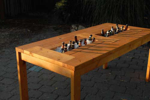 Picnic Table Center Cooler