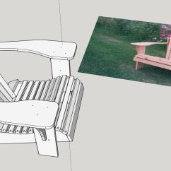 Plans Adirondack Chairs Free Floor Mat For Under High Chair Make Woodworking With Sketchup Woodwork City