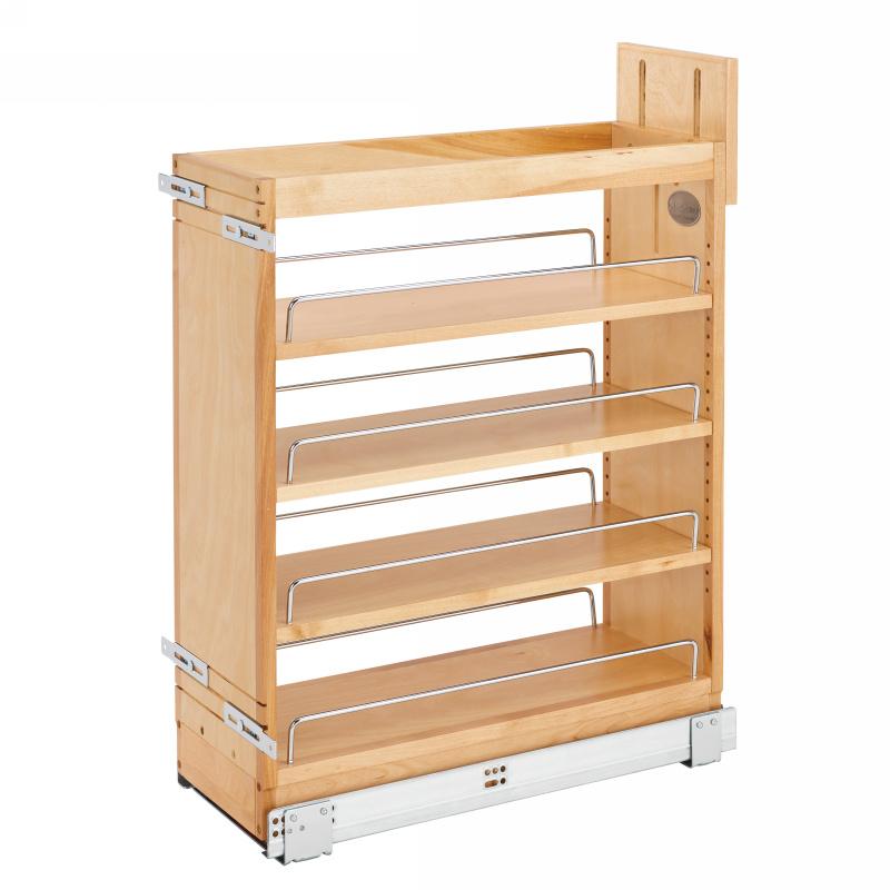 Rev-A-Shelf 448-BCSC-8C-16. 8in Base Cabinet Organizer with Blum Soft Close Slides
