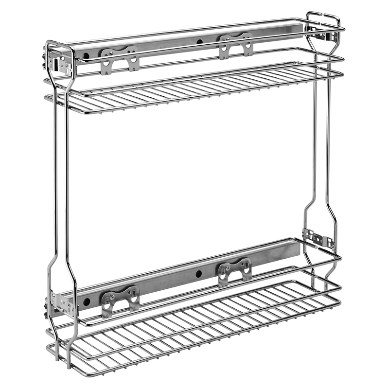 Rev-A-Shelf 548-06CR-1, 5-1/2 W Chrome Wire Two-Tier Base