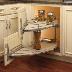 Two Tier Kitchen Drawer Organizer Metal Outdoor Cabinets Rev-a-shelf 582-18-rmp - Two-tier Curve Blind Corner ...