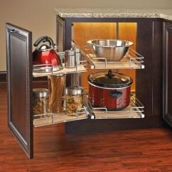 Kitchen Corner Shelves Shelving Ideas Rev-a-shelf 599-18-rmp - Two-tier Blind Organizer ...