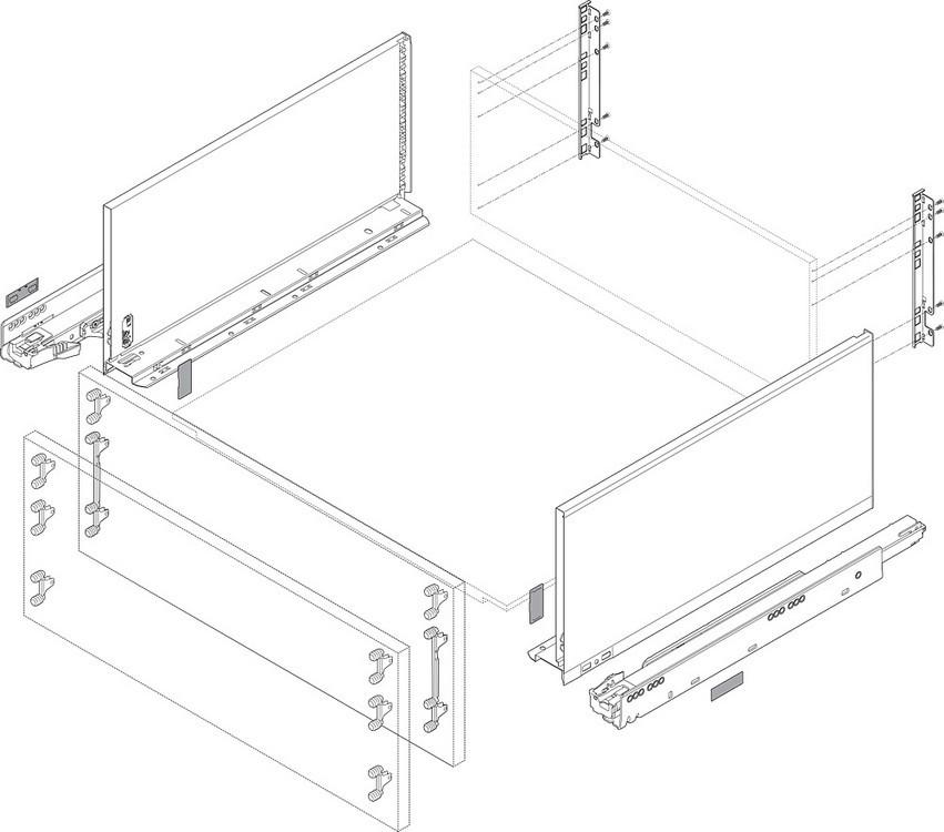 Blum ZF7M70E2 LEGRABOX M Height (3-9/16