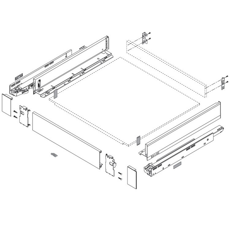 Blum ZI7.0MS0 LEGRABOX M Height (3-9/16