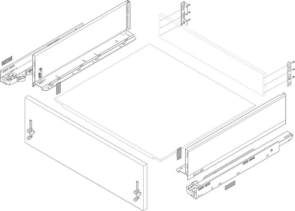 Blum ZF7K70E2 LEGRABOX K Height (5-1/16