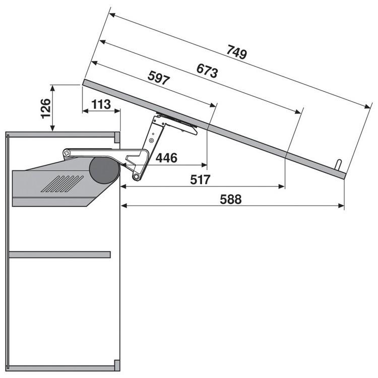 Blum 20S2A00.N5 Aventos HS Lift Mechanism