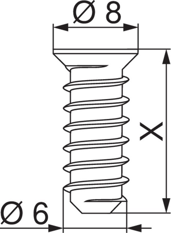 Blum 661.1150.HG #7 x 11.5mm Deep Thread System Euro Screws