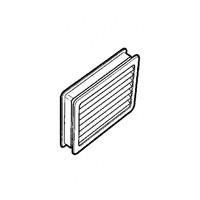 Hardware Concepts 6437-010, Rectangle Plastic 2-Piece