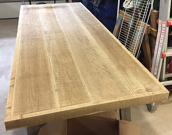 Attaching Table Top To Plywood